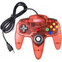 Joystick Usb Pc Diseño Nintendo 64 N64 Rojo