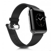 Correa Apple Watch Cuero Con Hebilla Negro 42mm / 44mm