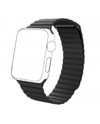 Correa Para Applewatch magnetica cuero negro 38mm / 40mm