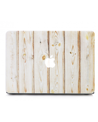 Carcasa Macbook Retina 13 / 13.3 Diseño Madera Blanco