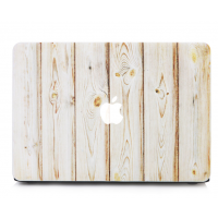 Carcasa Macbook Air 13 / 13.3 Diseño Madera Blanco