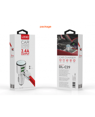 Cargador Auto Doble 3.4A iPhone LDNIO