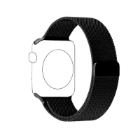 Correa Para Apple Watch Loop Milanese Magnetica Acero 38mm  / 40mm Negro