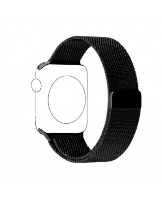 Correa Para AppleWatch Negro Loop Milanese Magnetica Acero 42mm  / 44mm