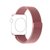Correa Para Apple Watch Loop Milanese Magnetica Acero 38mm Rose Pink