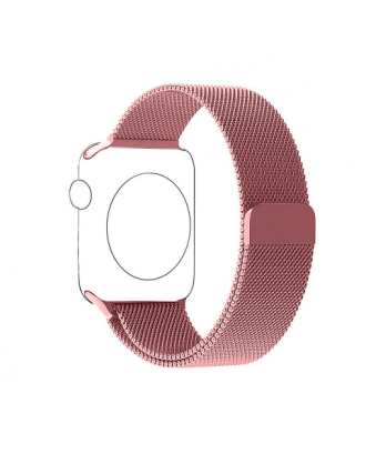 Correa Para AppleWatch Loop Milanese Magnetica Acero 42mm / 44mm Rose Pink