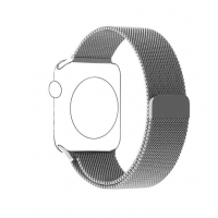 Correa Para Apple Watch silver  Loop Milanese Magnetica Acero 38mm