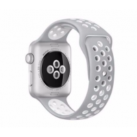 Correa Para Applewatch Deportiva Gris Blanco 42mm / 44mm