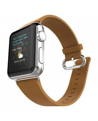Correa AppleWatch Cuero Con Hebilla Cafe 38mm / 40mm