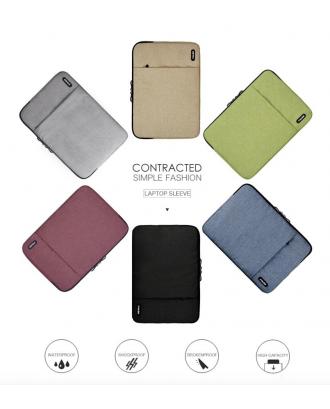 Funda Macbook Pro 13 Con y Sin Touchbar Azul Acolchada Kalidi