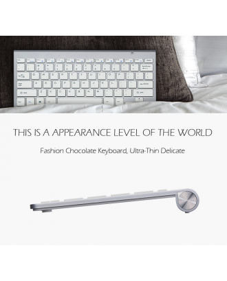 Kit Mouse y Teclado Macbook Notebook Inalambrico Wireless USB Silver