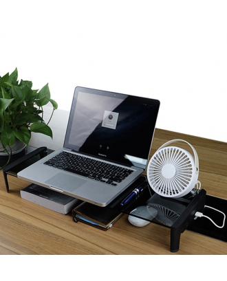 Base Apoyo iMac Macbook Monitores Vidrio Templado Hub USB Energizados