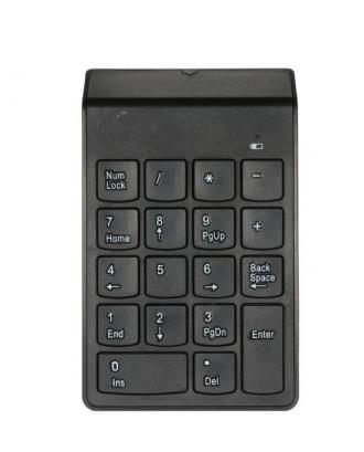 Teclado Numerico Inalámbrico USB Macbook Notebook Negro