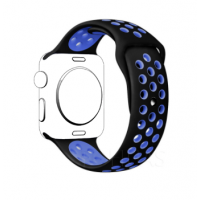 Correa Para Applewatch Sport Negro Azul 42mm