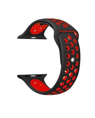 Correa Para Applewatch Sport Negro Rojo 42 / 44mm