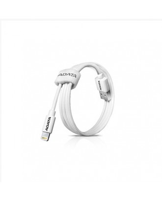 Cable iPhone iPad Lightning Certificado Apple blanco Adata