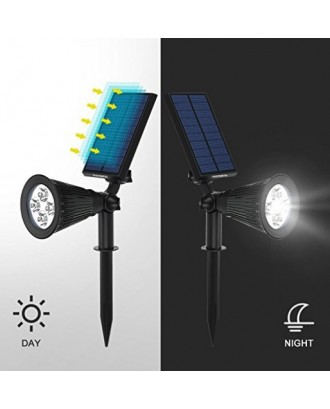 Luz Solar Exterior Solar Jardin 200 Lúmenes 2200mah