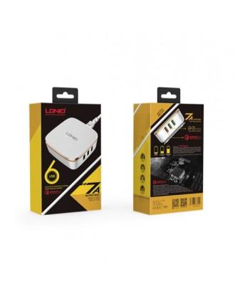 Cargador Rapido 6USB Quick Charge 2.0 LDNIO
