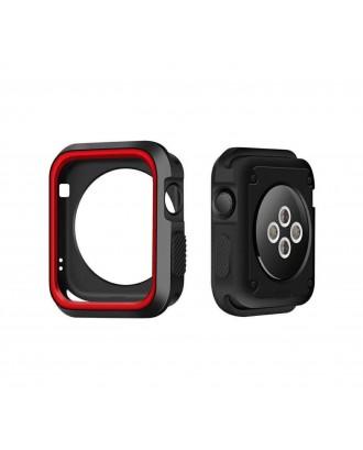 Carcasa Applewatch Antigolpes Negro Rojo 42mm