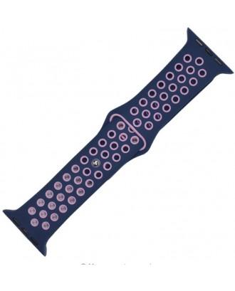 Correa Para Applewatch Sport Azul Pink 38mm