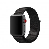 Correa Para Applewatch Nylon Bucle Negra 42mm