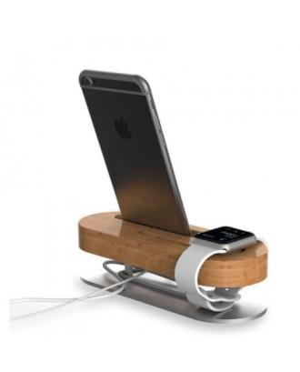 Soporte Applewatch iPhone Bambu Aluminio Seenda
