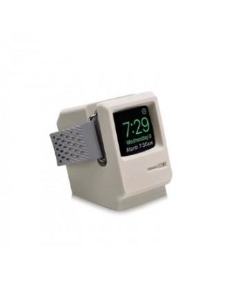 Soporte Dock Applewatch  Silicona 38/40/42/44 mm Mac Classic Blanco