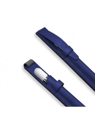 Funda de Cuero Apple Pencil y Lapices Tactiles Azul