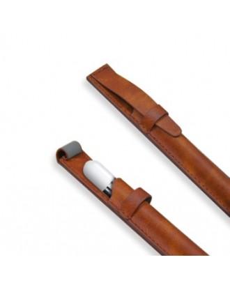 Funda de Cuero Apple Pencil y Lapices Tactiles Cafe