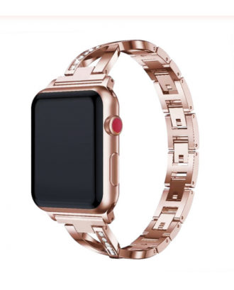 Correa Para Applewatch Metálica Mujer 02 Gold 42mm / 44mm