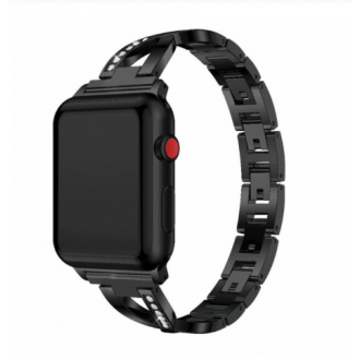 Correa Para Applewatch Metálica Mujer 02 Black 42mm / 44mm