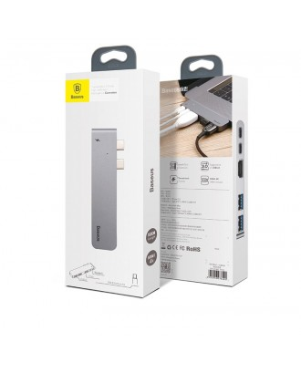 Docking USB-C Baseus 5 en 1 Macbook Pro Con y Sin Touchbar 5K