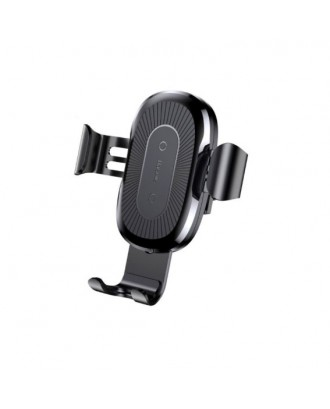 Cargador Inalámbrico Auto Qi iPhone Android Negro Baseus