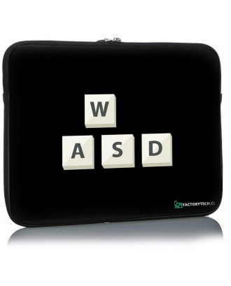 Funda Notebook Sleeve 17.3 Diseño WASD FCT
