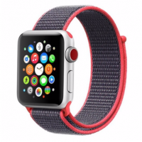 Correa Applewatch Nylon Bucle Rosado Gris 38mm / 40mm