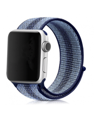 Correa Applewatch Nylon Stripe Azul 42mm / 44mm