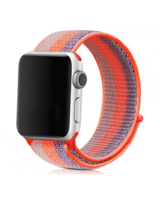 Correa Applewatch Nylon Stripe Naranjo 42mm / 44mm