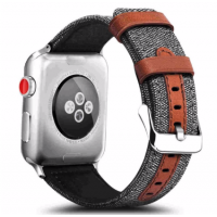 Correa AppleWatch Cuero y Tela Grafito 42mm / 44mm