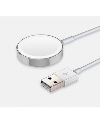 Cargador Magnetico Applewatch Silver Alternativo