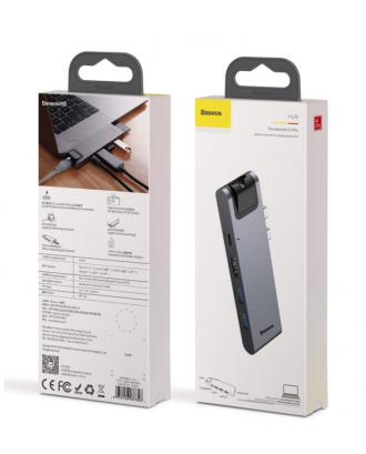 Docking USB-C Baseus 7 en 1 Macbook Pro Con Sin Touchbar Air 2018 4K