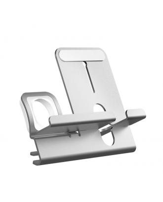 Soporte Applewatch iPhone Aluminio Para Carga Silver