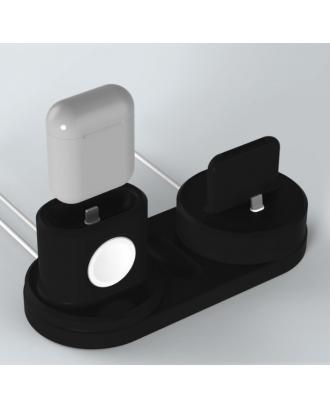 Soporte Applewatch iPhone Airpods IPencil Negro