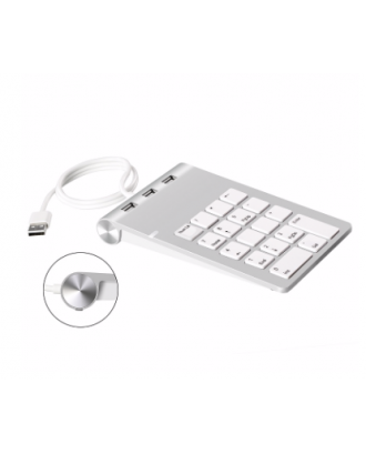 Teclado Numerico Aluminio Hub USB Macbook Notebooks