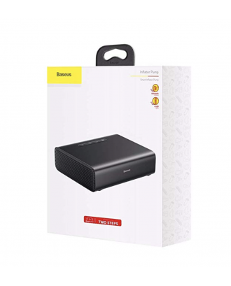Compresor Vehículo Aire Portátil Automático Premium Baseus Negro