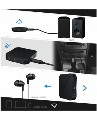 Transmisor Receptor Bluetooth Audio TV Notebook
