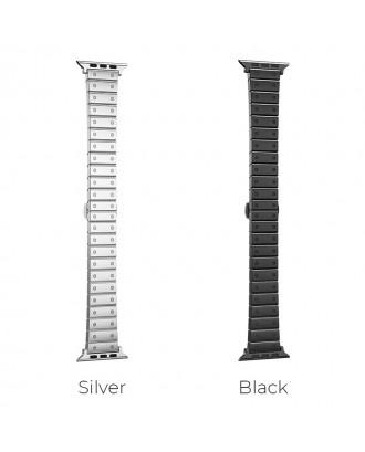 Correa Para Applewatch Acero Premium Hoco B07 38mm / 40mm Silver