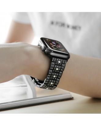 Correa Para Applewatch Acero Premium Hoco B13 42mm / 44mm Negra