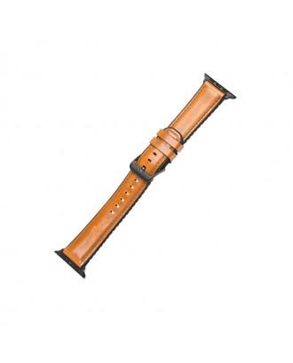 Correa Para Applewatch Cuero Premium Hoco Fenix 42mm / 44mm Khaki