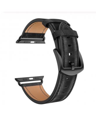 Correa Para Applewatch Cuero Bambu Premium Hoco 38mm / 40mm Negra