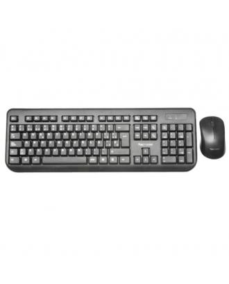 Kit Teclado y Mouse Inalambrico  Black Tecmaster WKM-3753